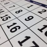 Calendar at Angle