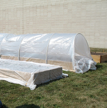Hoop houses, cold frames, hot beds, cloches and floating row covers can extend the growing season by six to eight weeks.